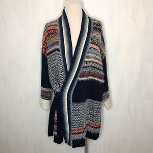 NEW Anthropologie Sleeping on Snow Pattern Kimono
